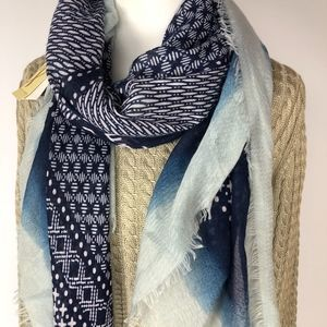 Womens Fashion Scarf by Collection Blue New
